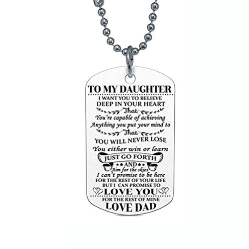 Botrong® Letter Necklace, Retro Art Hip-hop Necklace Trend Fashion Jewelry (Indian Sterling Silver Key Ring)