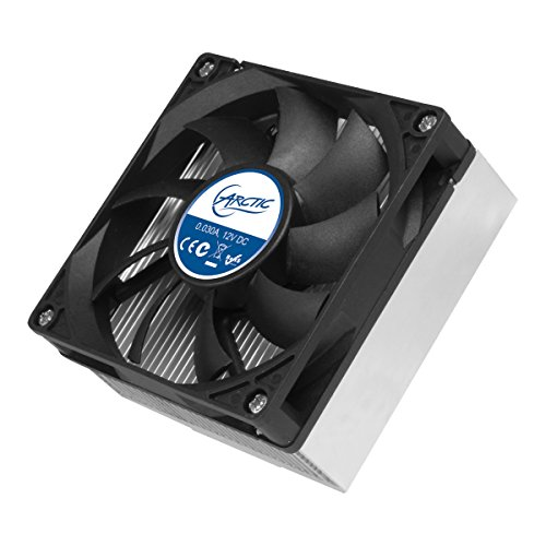 ARCTIC Alpine M1 - Whisper Quiet CPU Cooler for AMD Socket AM1 I 80 MM low speed fan I Easy installation and long service life - Black/Grey