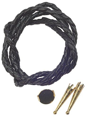 (Bolo Tie Parts - TWO Bolo Tips + 16mm Slide Gold Tone+ 34