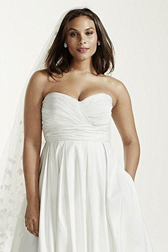 Faille Empire Waist Plus Size Wedding Dress Style 9WG3707