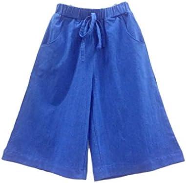 BAOBAO 子どもガウチョパンツ ズボン パンツ キッズ ジュニア 子供 こども 無地 ワイド ワイドパンツ バギー ガウチョ ガウチョパンツ