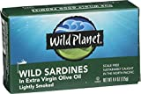 Wild Planet Wild Sardines in Extra Virgin Olive Oil, Lightly Smoked, Whole 30, Keto, and Paleo, 4.4 Ounce (Pack of 12)