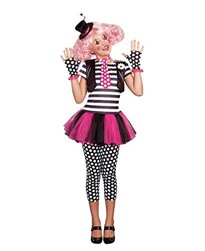 Clownin Around Child Costumes (Dreamgirl 9949 Clownin' Around Girls Costume - Medium - Multicolor)