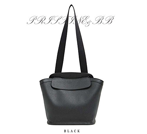 Black Cross Italian (Finest Italian Cow Skin Lovely Women Tote & Cross Shoulder Bag (Black))