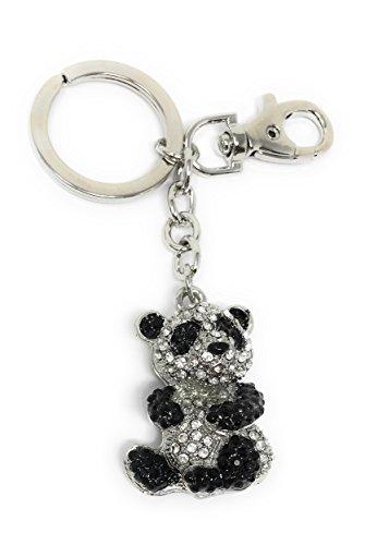 Value Arts Bejeweled Panda Bear Key Chain, 4.5 Inches Long]()