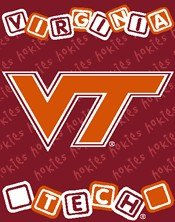 Virginia Tech Hokies 36x48 Baby Blanket / (Baby Triple Woven Blanket)