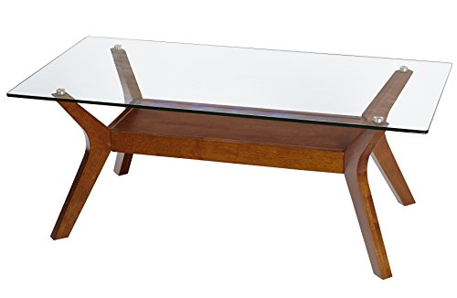 Tables Wood Coffee Modern (Target Marketing Systems 77102WAL Fontana Coffee Table, Walnut)