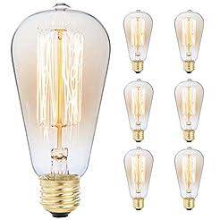 6-Pack Edison Light Bulb, Antique Vintag...