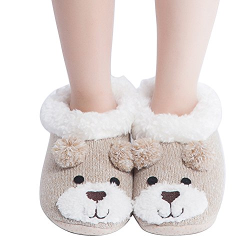 9cd2b82859da4 MaaMgic Womens Fuzzy Christmas Animal House Slippers Ladies Cute Bedroom  Indoor Knit Winter Slippers