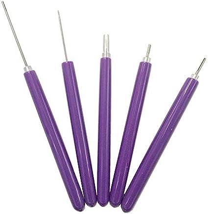SNOWINSPRING 5 nel 1 Quilling Tools 5PZ Diversi Formati Quilling con Fessure di Carta Kit Quilling di Carta Rotolamento un Mano Curling Curling Quilling Pen per Art Craft Carta DIY