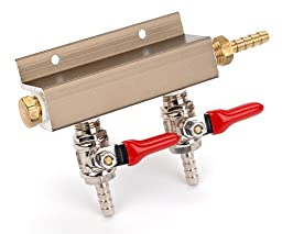 E.C. Kraus Co2 Manifold: 2 Outlet by E.C. Kraus