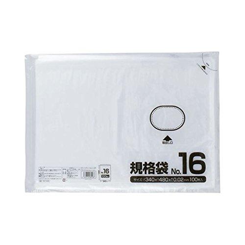 (まとめ) クラフトマン 規格袋 16号 ヨコ340×タテ480×厚み0.02mm HKT-022 1セット(1000枚:100枚×10パック) 【×5セット】 生活用品 インテリア 雑貨 文具 オフィス用品 袋類 ビニール袋 top1-ds-1576085-ah [簡素パッケージ品] B06XQPG45R