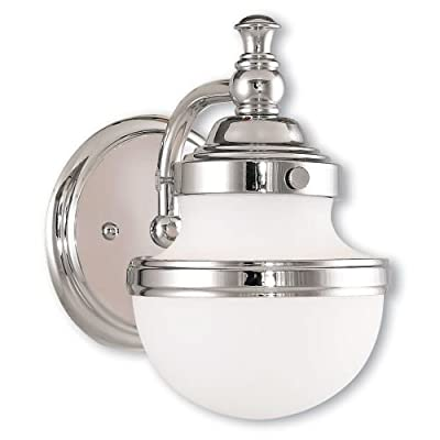 Livex Lighting 5711-05 Oldwick 1 Bath Light, Polished Chrome