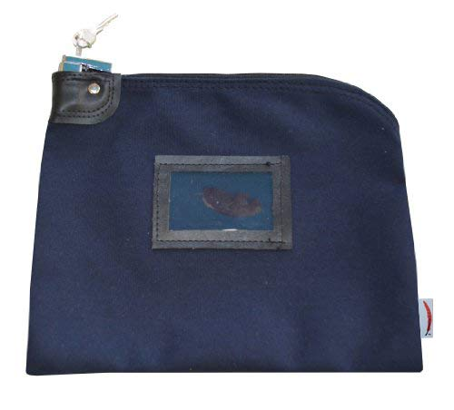 - Locking Bank Bag Canvas Keyed Security (Navy Blue)