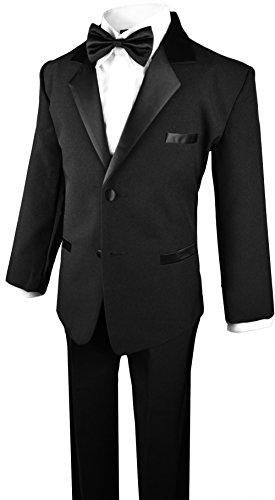 Boys Tuxedo in Black Dresswear Set Size 4T by Black n Bianco (Image #1)