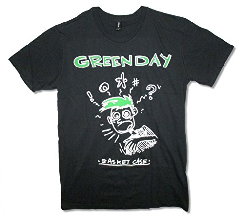 e Mens Black Slim Fit T Shirt (3X) (Green Day Printed T-shirts)