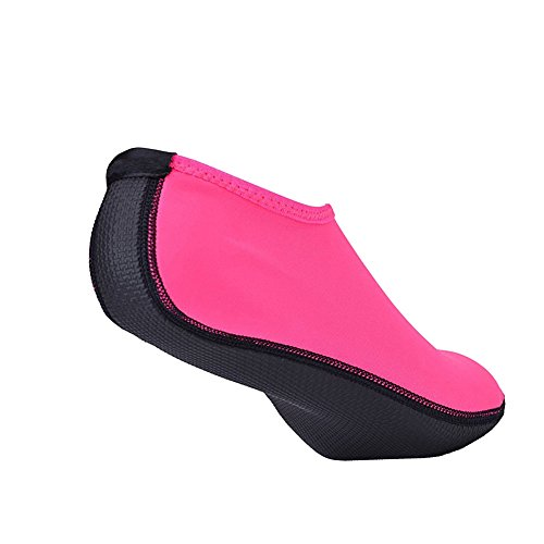 Unisex Barfuß Wasser Schuhe Herren Damen Aqua Shoes Hautschuhe für Strand Schwimmen Surf Yoga Rosa
