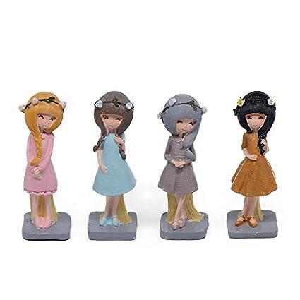 AMZLUCKY - Household Decor Cute Girl Figurine Office Decoration ...