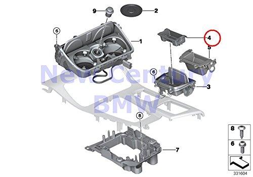 Console Ashtray Insert - BMW Genuine Mounting Parts Center Console Ashtray Insert 528i 528iX 535i 535iX 550i 550iX Hybrid 5 M5 528i 528iX 535d 535dX 535i 535iX 550i 550iX Hybrid 5