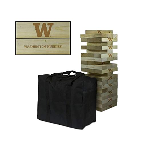Victory Tailgate NCAA Giant Wooden Tumble Tower Game Set - Washington Huskies