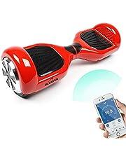 Bluefin Elektro Scooter E-Balance Skateboard 6.5 Zoll , Integrierte Bluetooth Lautsprecher & App , Leiser Motor , Für Kinder & Erwachsene , Samsung Batterie , UL 2272 & CE Getestet , Inkl. Tragetasche