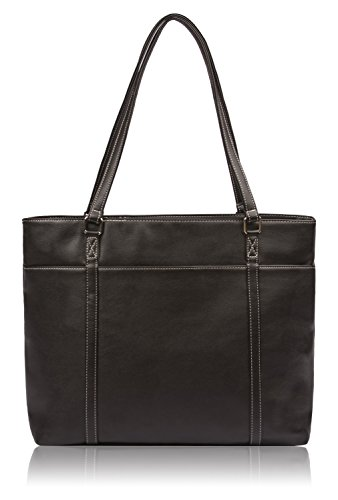 Overbrooke Classic Womens Tote Bag for Laptops  up to 15.6 Inches, Black