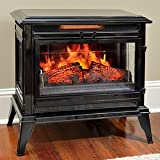 Jackson Black Infrared Electric Fireplace Heater - CS-25IR-BLK