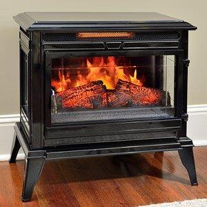Amazoncom Jackson Black Infrared Electric Fireplace Heater CS - Fireplace heaters electric