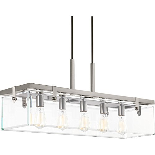 00116-009 Glayse Five-Light Island, Brushed Nickel ()