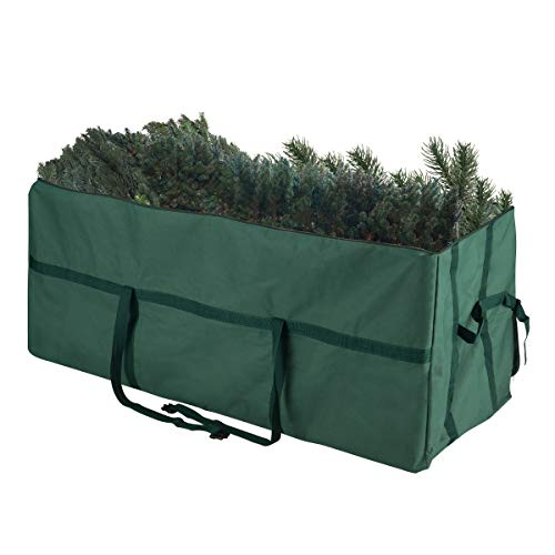 Elf Stor 83-DT5030 Heavy Duty Canvas Christmas Storage Bag Large for 9 Foot Tree, Non-Rolling, Green -