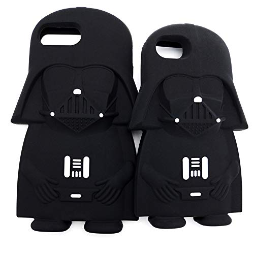 (Half-Wrapped Case - Hot 3D Star Wars Black Darth Vader Cartoon Silicone Phone Cases Cover for iPhone 8 8Plus 7 6 6S Plus 5 5G 5S 4 4S Back Cover - by Mariahanan - 1 PCs)