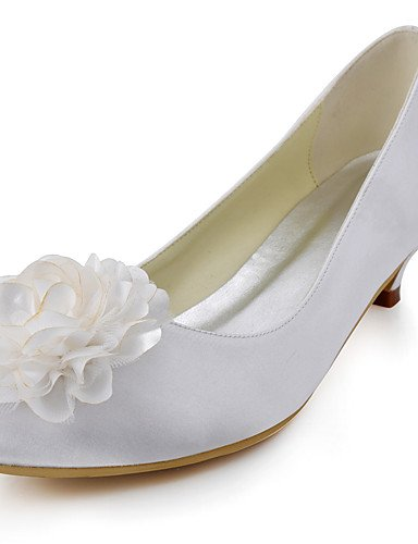 ZQ Zapatos de boda-Tacones-Tacones / Punta Redonda-Boda / Vestido / Fiesta y Noche-Azul / Rojo / Blanco / Beige-Mujer , 1in-1 3/4in-red 1in-1 3/4in-blue