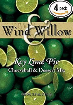 Wind and Willow Key Lime Pie Cheeseball & Dessert Mix - 3.5 Ounce (4 Pack) by Wind & Willow
