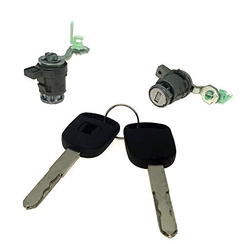 Front Left Right Door Lock Cylinder Set for 2002-2006 Honda CR-V 2003-2011 Honda Element Driver Side and Passenger Side Doors Replace OE # 72185-S9A-013 72145-S9A-003 72185S9A013 72145S9A003
