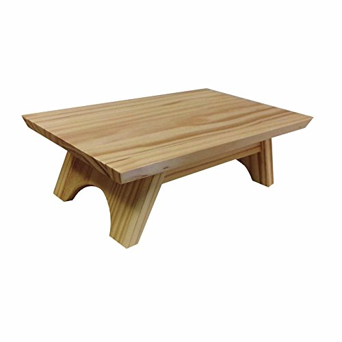 EarthBench Shrine Table Pedestal   Pine