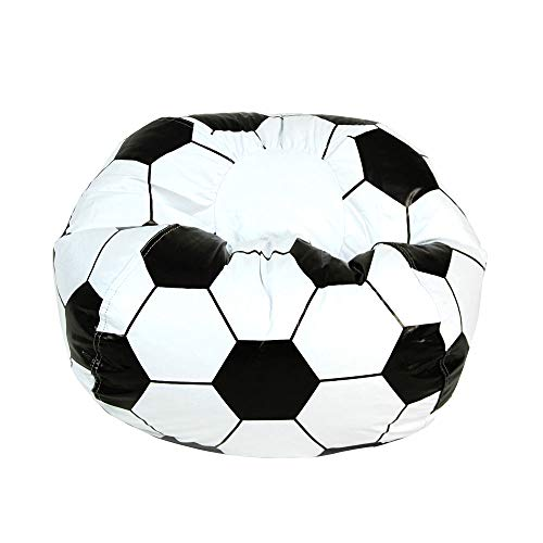 Soccer Ball Stool Junior Sports Vinyl Pure Bead Bean Bag Vinyl Pure Bead Bean Bag Give Your Sports Star a Place to Relax After a Tough Practice. Perfect for Studying, Watching TV Great Accents to Room