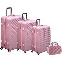 Morano PPC Trolley 3Pcs Set with Beauty Case, Light Pink, 6626