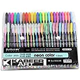 Kabeer Art 48 Pc Gel Pens Set Color Gel Pens ,Glitter, Metallic , Neon Pens Set Good Gift For Coloring Kids Sketching Painting Drawing