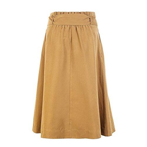 De A Mujeres Elegantes Plisadas Niais Alta Yellow line Largas Las Maxi Midi Cintura La Faldas qWncEc04X