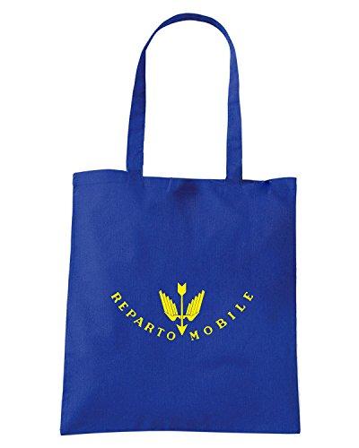 T-Shirtshock - Borsa Shopping TM0588 polizia reparto mobile Blu Royal