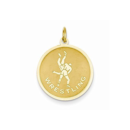 14k Yellow Gold Wrestling Charm by Nina's Jewelry Box