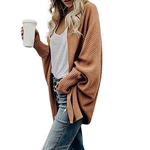 Womens Off The Shoulder Sweater Casual Knitted Loose Long Sleeve Pullover -
