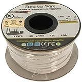 InstallerParts 100Ft 16AWG/2C Bulk Polarized In-Wall Speaker Wire - Flexible -- Copper