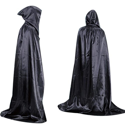 [Euone Halloween Death Cloak Cloak Adult long Section Of Mopping The Floor Masquerade (Black)] (Contact Lenses Costume)