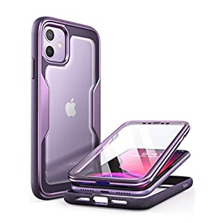 i-Blason Magma Case for iPhone 11 6.1 inch (2019 Release), Heavy Duty Protection, Full Body Bumper Protective Case with Built-in Screen Protector (Purple)
