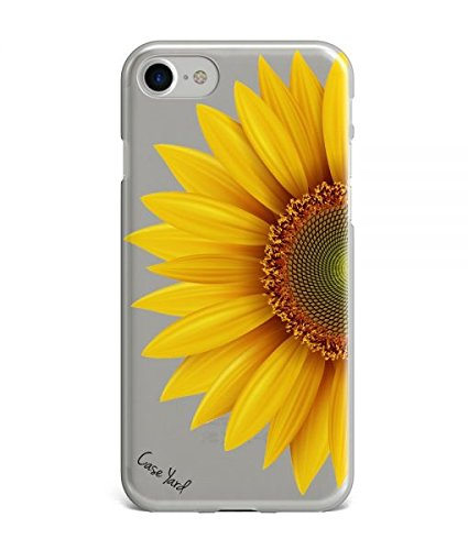 Price comparison product image CaseYard iPhone 7 Plus Phone Case, Luxuriously Designed Cell Phone Cases, Clear (Half Sunflower)