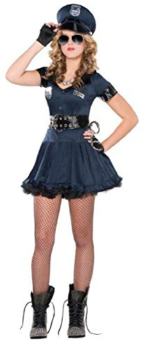 Teen Girls Halloween Costumes (Amscan Junior's Locked 'N Loaded Cop Halloween Costume, Large (11-13))