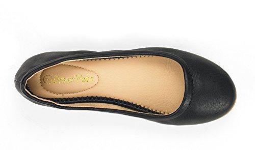 DREAM PAIRS Women's Sole-Fina Black Solid Plain Ballet Flats Shoes - 9 M US by DREAM PAIRS (Image #3)