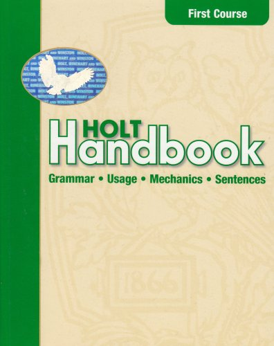 Holt Handbook: Student Edition First Course 2003