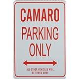 Camaro Parking Only - Miniature Fun Parking Sign